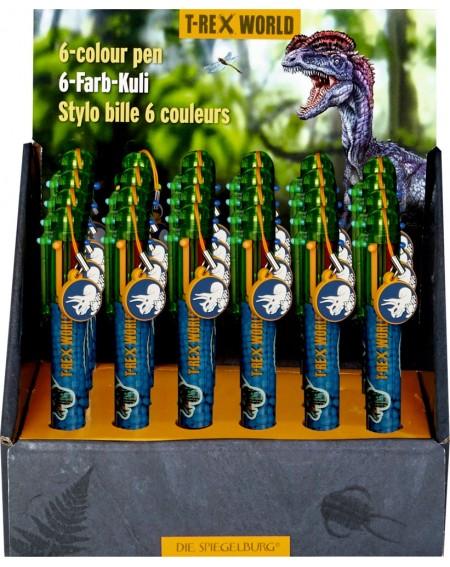 6-kleurige balpen T-Rex World
