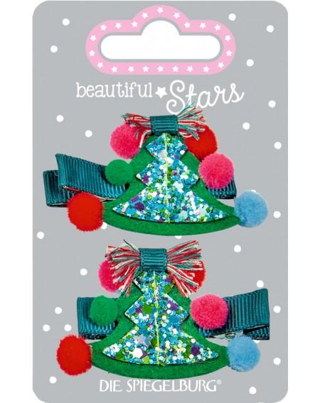 Haarclip kerstboom