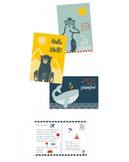 Briefkaarten - stempelset