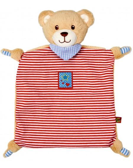 Knuffeldoek Teddy rood