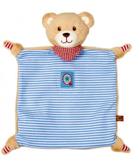 Knuffeldoek Teddy blauw