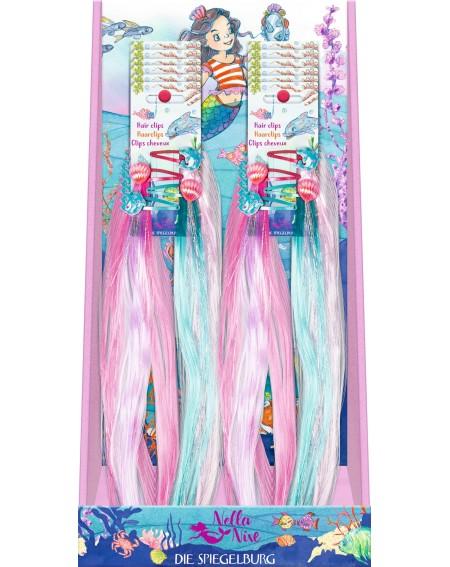 Haarclips met glitterstrengen
