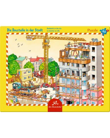 Raampuzzel bouwplaats