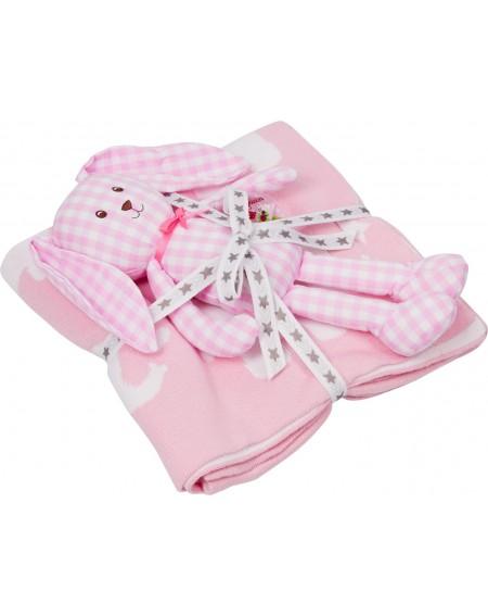 Geschenkset deken en konijn...