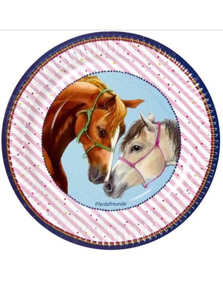 8 Partybordjes Pferdefreunde